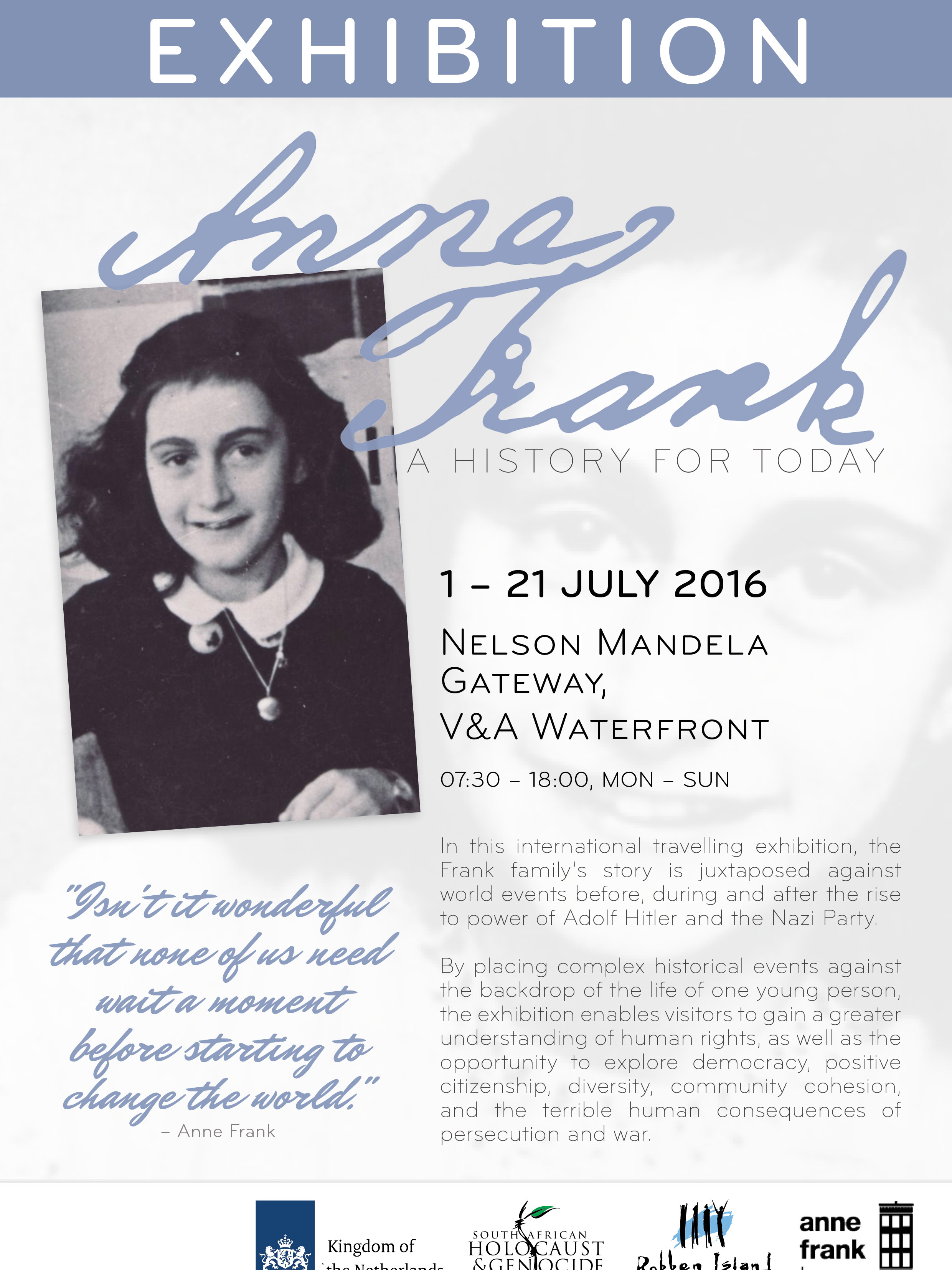f33d9b569ade Anne Frank - A history for today - Cape Town Holocaust   Genocide Centre