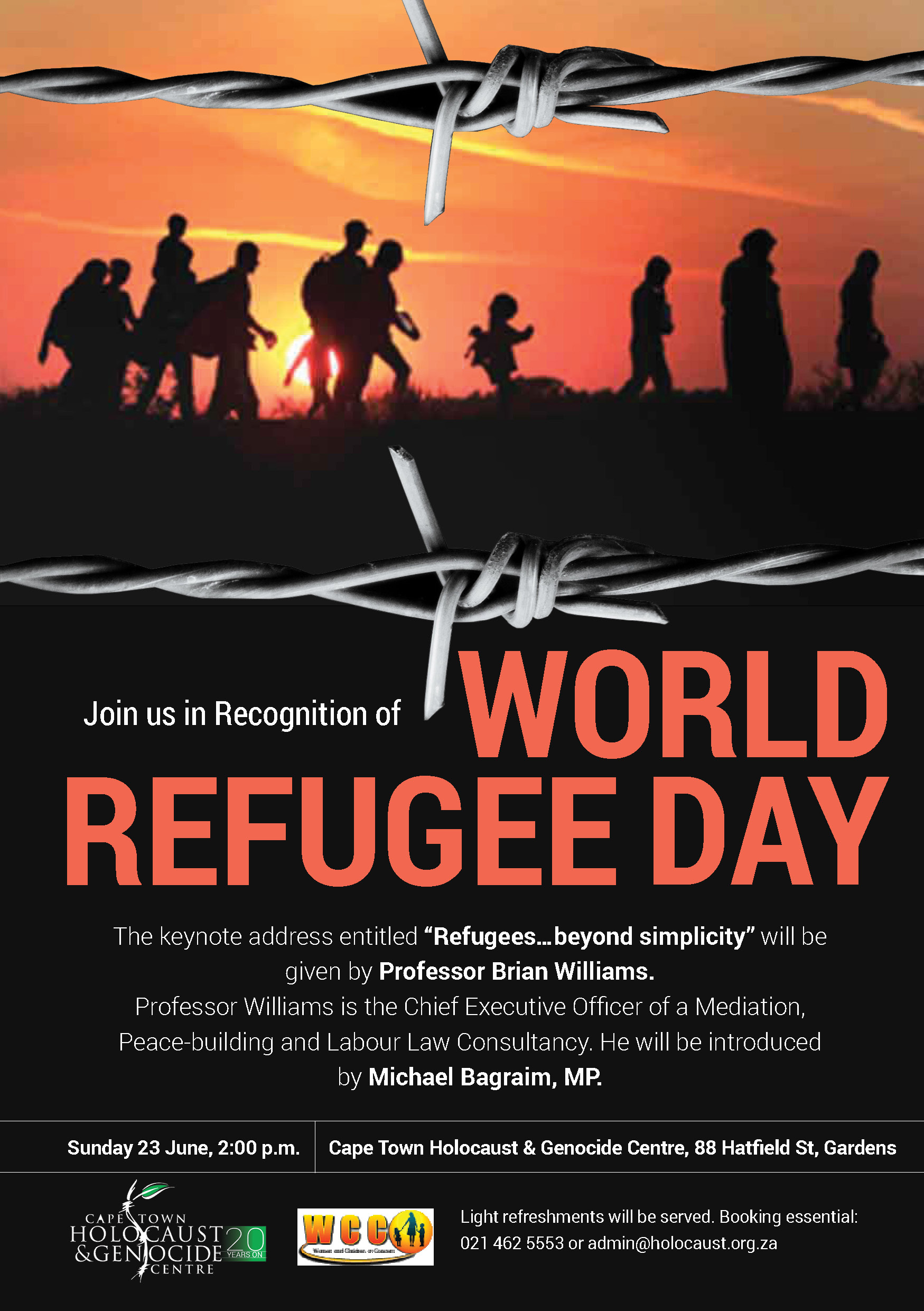 World Refugee Day - Cape Town Holocaust & Genocide Centre