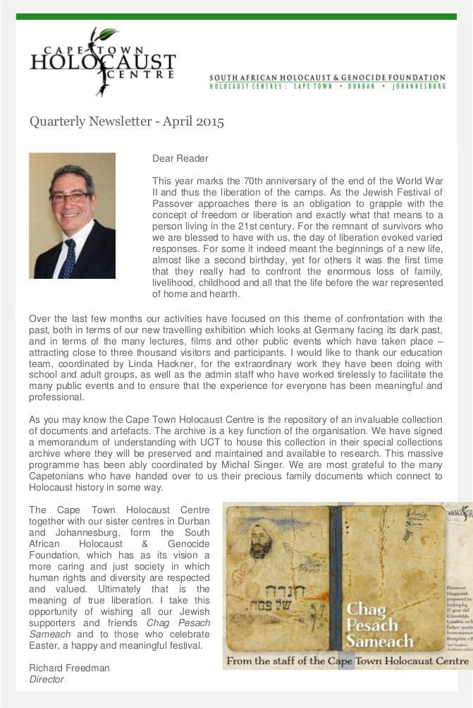 2015 April Newsletter