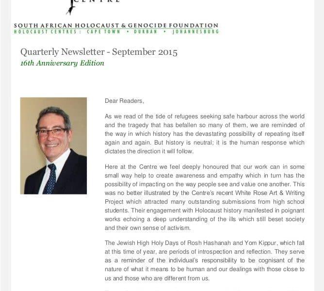 2015 Sept Newsletter