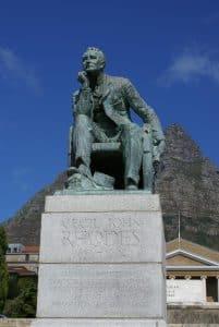 UCT Cape Town Statue of Rhodes Taken by Danie van der Merwe