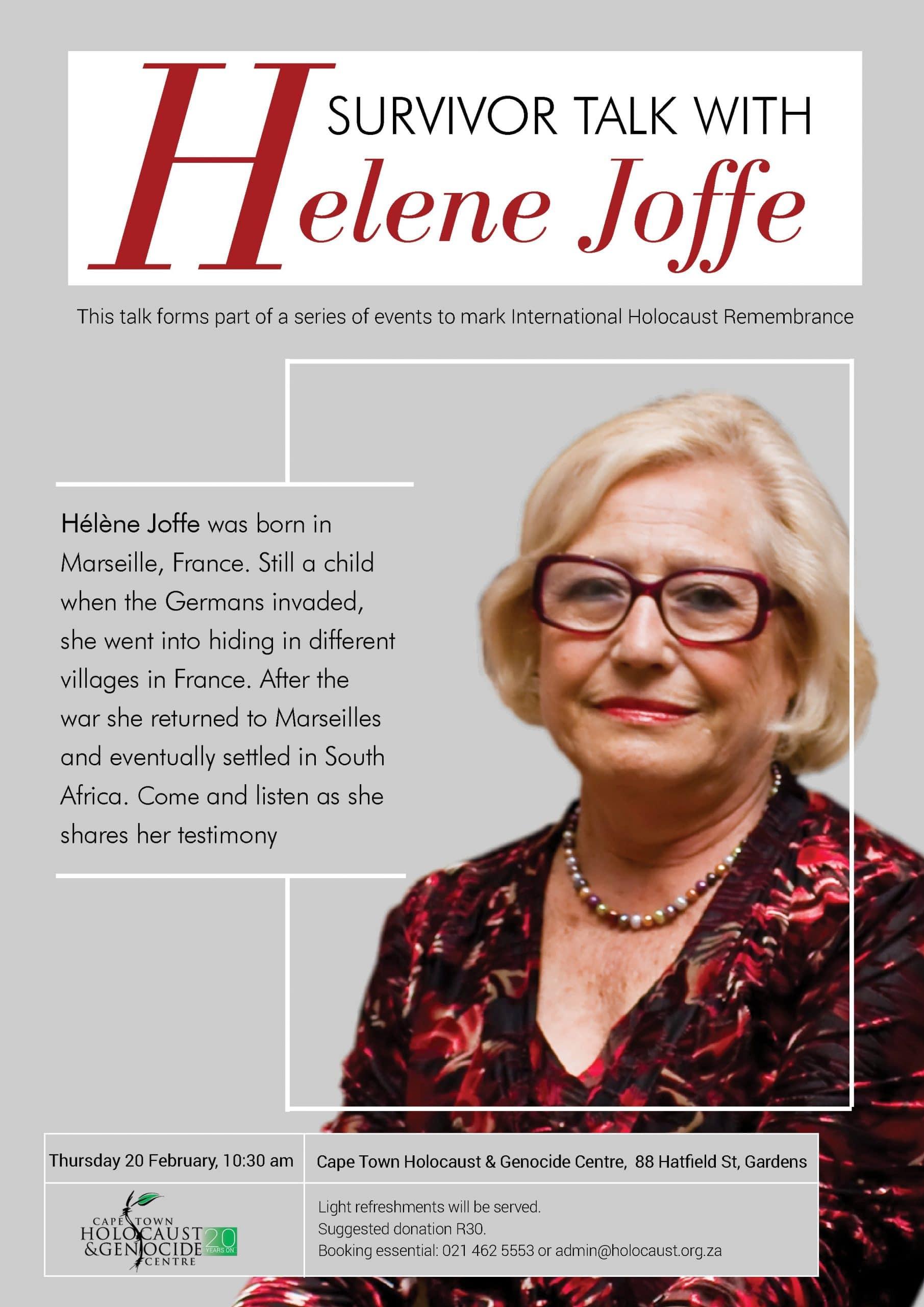 Helene Joffe public lecture CTHGC