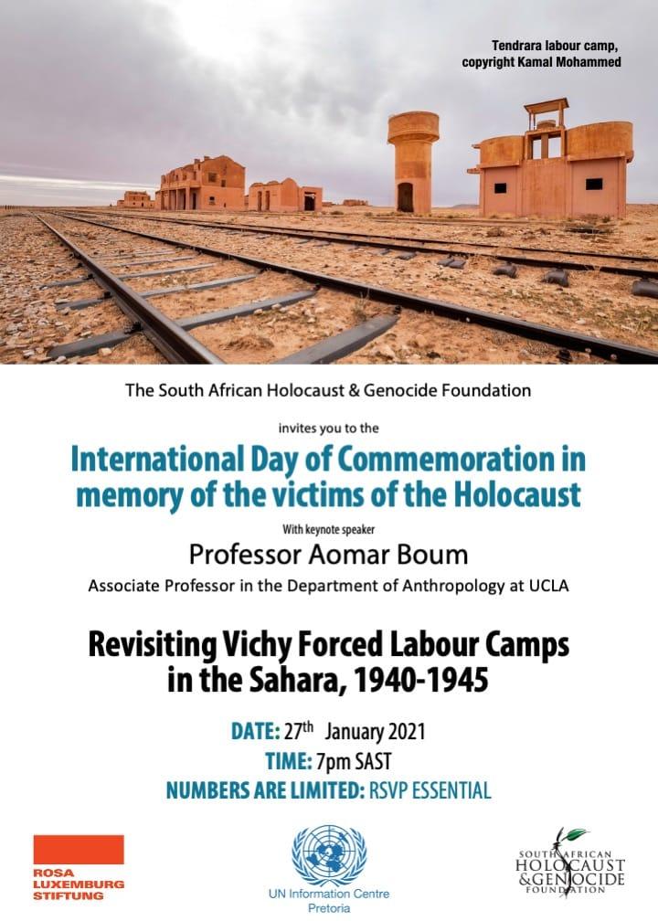 Holocaust Commemoration 27 Jan 2021